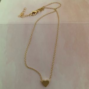 Gold dainty heart necklace